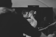 moments (Kristy Dankova) Tags: wedding blackandwhite bw white black groom bride dance kiss candid joy first moment