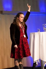 Sofie Sandell speaking at Handhelds conference in Stockholm