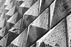3D Wall (lorenzoviolone) Tags: blackandwhite bw italy rome roma texture wall architecture triangles blackwhite reflex 3d nikon triangle pattern fav50 background dslr kodaktrix400 fav10 latium fav25 fav100 d5200 afsnikkor50mmf18g nikond5200 flickr:explore=true
