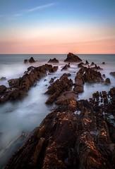 Cornish Coast Morning (wolffslicht) Tags: longexposure sea sun water rocks cornwall waves salt bude maercliffs tenstoppfilter