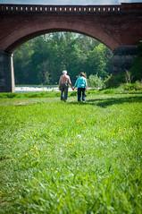 18.04.2014-22 (Rente B.) Tags: bridge cute green love nature couple romance latvia kuldiga holdhands