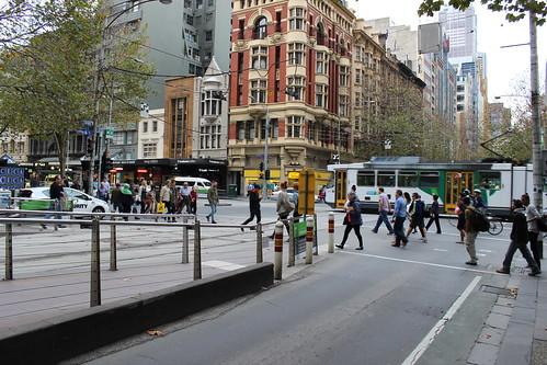 Corner of Collins and Elizabeth Streets