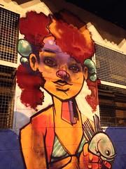 Papo sobre o Mar no Cicas Jd. Julieta - ZN (Lel {Art Rols}) Tags: sea fish graffiti mar eyes mulher olhos jardim paulo so negra julieta sprayart graffitigirl grafiteira