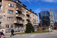 Past vs. Future in Sarajevo (Sobanland) Tags: new old strange mall war sarajevo bosnia style unusual balkans remind rundown balkan bih bosna bosnian balcani sarajevocitycentar