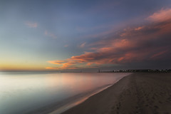 so late, so early (olsonj) Tags: lake wisconsin clouds sunrise dawn lakemichigan kenosha