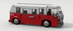 VW Type 2 (revised) (LegoGuyTom) Tags: city 2 bus classic vw digital vintage volkswagen lego pov designer micro legos type passenger van microbus povray buli ldd legocity legodigitaldesigner