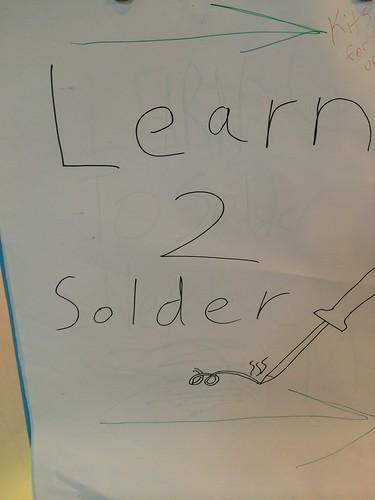 Learn to Solder by Wesley Fryer, on Flickr
