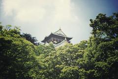 Osaka + Castle | Japan, July 2014 (Sebastien BERTRAND) Tags: castle japan canon streetphotography osaka streetphoto chateau japon photoderue  eos40d canon40d chateaudosaka fotomato sebfotomato sbastienbertrand osakascastle sebastienbertrand