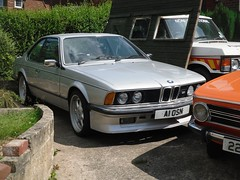 1985 BMW 6 Series M635 CSi  A1 OSN (Paul D Cheetham) Tags: old 6 classic cars march engine july retro motors vehicles bmw vehicle series spotted a1 petrol straight six 35 1985 8th e30 csi litre 22nd allestree 2014 osn straightsix motro m635 a1osn 3543cc