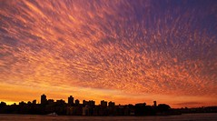 Sunset over Sydney's North Shore (loobyloo55) Tags: pink sunset sky orange yellow skyline clouds purple sydney australia