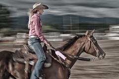 Loggerodeo Rein Rider (sunrisesoup) Tags: pink horse usa motion explore wa cowgirl panning sedrowoolley loggerodeo sunrisesoup reinrider f64g62r1win