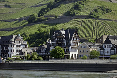 Assmannshausen On The Rhine (Greatest Paka Photography) Tags: travel tower river germany hotel inn wine promenade rhine halftimbered pinotnoir rhineriver assmannshausen hotelkrone