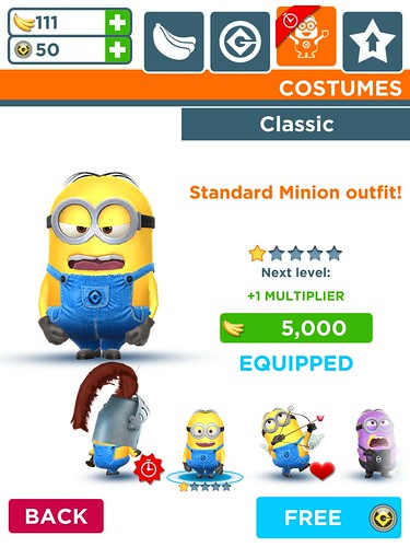 Despicable Me: Minion Rush Profile & Avatar, Items Store: screenshots, UI