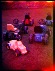 toy cars (pho-Tony) Tags: old blue red blackandwhite bw white 3 black color colour green home rollei three 3d iso400 ishootfilm stereo filter lee 400 processing filters rgb triple lenticular ilford tricolour sergey trilogy combination separation archaic developing colorize threecolor postprocessing trichrome 3d1000 colourise filmisnotdead threecolour ilfotol trichromy trichromie prokudingorsky rpx400 threelens sergeyprokudingorsky pse8 ilfotol3 trilogy3d1000