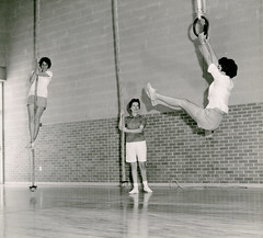 01390 (Hendrix College) Tags: landscape rope indoors rings gymnastics archives gymnasium hendrixcollege grovephysicaleducationbuilding