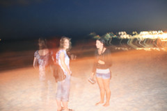 (Riccy Wings) Tags: travel friends light portrait people tourism beach night canon mexico evening blurry long exposure ghost yucatan tamron 18200mm sooc 400d