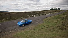 Life Is A Car (4oClock) Tags: 2003 road county uk blue summer england cloud green drive nikon durham lotus elise britain parking july laser british nikkor dslr blacktop 18105 2014 d90 weardale b6278