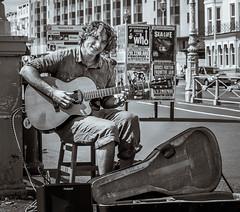 Scott #33 out of 100 (Richee Wilson) Tags: street guitar 33 gutarist bwblackwhite 100strangers