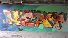 Feel me by Fat Heat (Digger Barnes) Tags: bridge streetart amsterdam graffiti mural letters heat cfs coloredeffects fatheat coloredeffectscrew