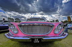 Pink Chrysler Windsor (Rich Saunders) Tags: pink sky usa storm classic car weather clouds sedan us skies stormy american vehicle oldtimer chrysler saloon chryslerwindsor pinkchrysler