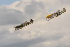 Spitfire and Mustang (Alec Trusler in Oz) Tags: nikon spitfire mustang dunsfold wingsandwheels