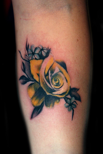 vintage yellow rose tattoo - a photo on Flickriver
