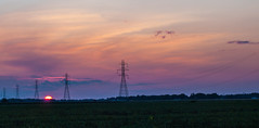 Sunset (ramseybuckeye) Tags: county sunset ohio sky power towers wires electricity putnam