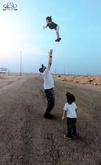 don't be afraid (heromioo) Tags: street sky public up look kids canon children child egypt samsung style son galaxy riyadh