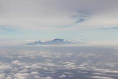 Mount Kilimanjaro (SE9 London) Tags: africa snow feet kilimanjaro skyline clouds tanzania volcano airport mt view kenya cone nairobi flight cruising moi aerial mount international cap airways mont meters kenia kili afrique kenyatta snowcap kq jomo metres jkia