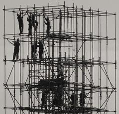 INSIDE JOB BW (RAUL BROCKMANN | Visual Arts) Tags: bw men rio de workers construction janeiro streetphotography pb raul minimalism minimalist andaime brockmann abaf raulbrockmann zs7 menimalist