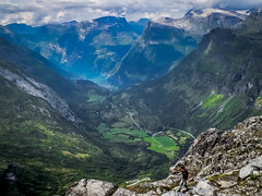 At the top of Dalsnibba (K r y s) Tags: norway møreogromsdal