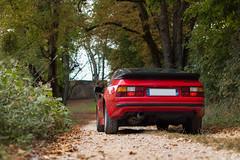 Porsche 944 (Anthony Perrier) Tags: wood france sport forest rouge porsche shooting foret arbre 944 flat4 d3200 chozeau