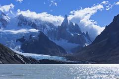 Patagonia, Cerro Torre (OsPassosDoGatoPreto) Tags: blue patagonia lake snow mountains ice southamerica argentina clouds landscape glacier latin granite cerrotorre losglaciaresnationalpark santacruzprovince elchaltn andesmountainrange lacordilleradelosandes doomiti
