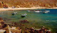 Tehuamixtle, Cabo Corrientes (Arenamarysol Photography) Tags: naturaleza beach nature playa mexique costaalegre messico lanchas tehuamixtle cabocorrientes arenamarysol bahiadetehua