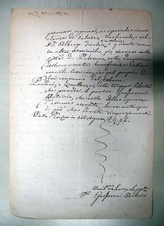 Istanza trasferimento presentata da Gasparone, 5 settembre 1876, V, ALPE, Archivio della Pia casa degli incurabili di Abbiategrasso, b. 222