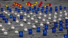 IndyRef - Catalonia & Scotland 03 (byronv2) Tags: scotland edinburgh candles candle flag politics scottish flags catalonia parliamentsquare independence cobbles oldtown catalan saltire edimbourg independencereferendum indyref