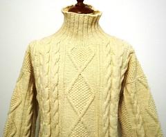 Aran Turtleneck wool sweater (Mytwist) Tags: irish wool fashion ebay ivory craft style jumper turtleneck aran cholita pullover zopf herren cabled strick rollneck rollkragen mytwist retrotex