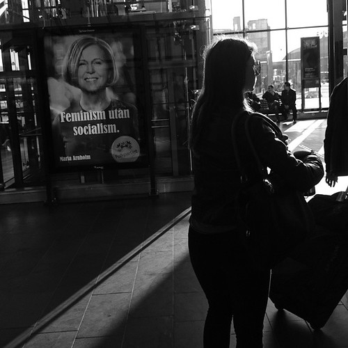 Election #streetphotography #commute #bw