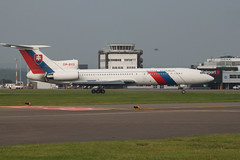OM-BYO (aitch tee) Tags: visitors slovakrepublic tupolev 2014 walesuk cardiffairport tu154m natosummit ombyo natosummitsecurity