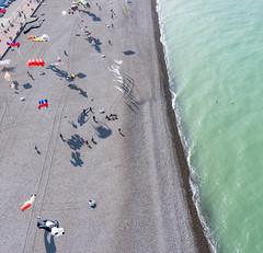 Dieppe Kite Festival from Above (Wind Watcher) Tags: ocean kite france beach festival kap dieppe dopero windwatcher