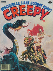 Creepy 105 (micky the pixel) Tags: comics comic snake goddess creepy horror sciencefiction schlange heft warrenpublishing