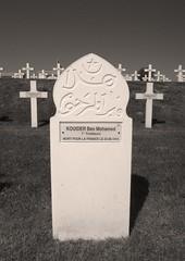 Mohamed Ben Kouider - Serre-Hébuterne Military Cemetery (OJ58) Tags: cemetery rip headstone worldwarone ww1 1915 wargraves restinpeace thesomme mortpourlafrance arabsoldier tirailleur ww1wargraves frenchwargraves islamicheadstone ww1centenary arabheadstone arabicheadstone arabicgrave frenchcolonialgrave frenchww1graves frenchww1wargraves serrehebuternemilitarycemetery ww1frenchgrave 7thtirailleurs