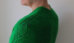 Summerhill by Ankestrick (LucciolaS) Tags: green sweater lace topdown cardigan seamless contiguous wollmeise lightfingering