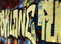 Long wall Graffiti