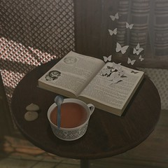 ..::THOR::.. Storybook Set (dettail) - Collabor88 - February 8th Round C88 event (andraus thor) Tags: thor collabor88 sl secondlife metaverse 3d mesh furnitures tales fable vintage shabby storyteller storybook props set armchair bookshelf books pillow popup