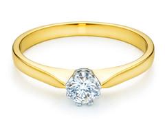 Yellow - white gold ring with diamond (yeloow.pl) Tags: gold golden ring diamond yellow white engagement jewelry jewelery round stone light product