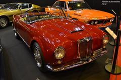 Lancia Aurelia B24S Convertible 1956 (Monde-Auto Passion Photos) Tags: auto automobile voiture vehicule lancia aurelia b24 convertible cabriolet spider rouge ancienne ultra rare collection france paris retromobile evenement
