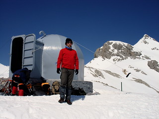 Frío polar junto al refugio de Cabaña Verónica (2.325 m.)