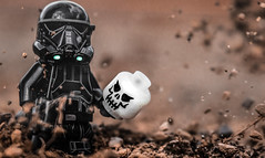 I Will Find You. (Lego_LUTs) Tags: green yellow storm trooper star wars war lego outdoors clone troopers first order blasters afol minifigs minifigures bricks blocks canon toy toys force legos t3i republic people atst death rogue one dirt practical effects photo photography