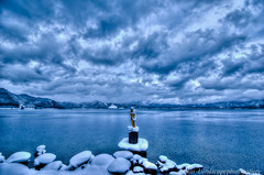 [HDR]真冬のたつこ像 (daidai3214) Tags: hdr photomatixpro japan 日本 東北 北東北 東北地方 田沢湖 たつこ像 冬景色 雪景色 冬 秋田県 仙北市 k3ii sigma1020mmf456exdc sigma pentax